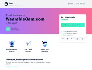 wearablecam.com screenshot