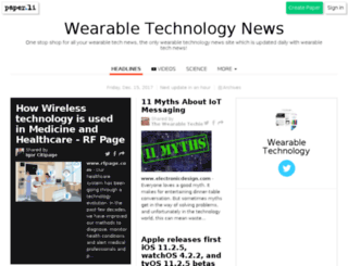 wearabletechnews.co.uk screenshot