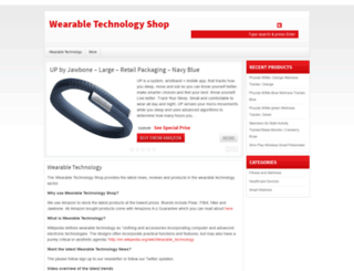 wearabletechnologyshop.com.au screenshot