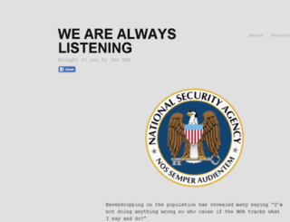 wearealwayslistening.com screenshot