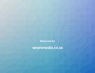 wearemedia.co.za screenshot