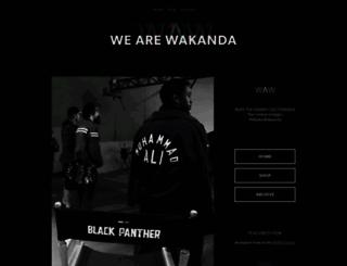 wearewakanda.com screenshot