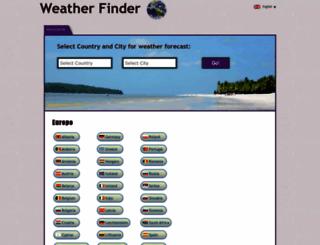 weather-finder.com screenshot