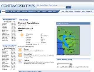weather.contracostatimes.com screenshot