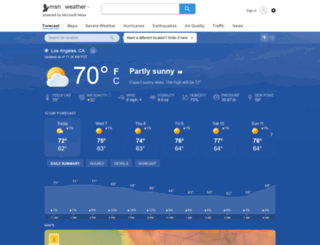 weather.msn.com screenshot
