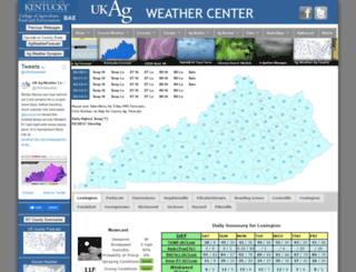 weather.uky.edu screenshot