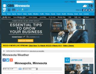 weather.wcco.com screenshot