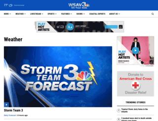 weather.wsav.com screenshot
