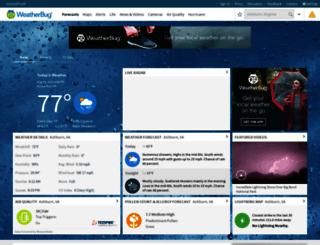 weatherbug.com screenshot