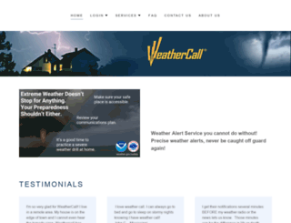 weathercall.net screenshot