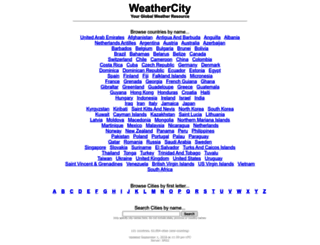 weathercity.com screenshot