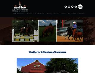 weatherford-chamber.com screenshot