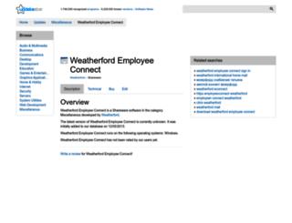 weatherford-employee-connect.updatestar.com screenshot