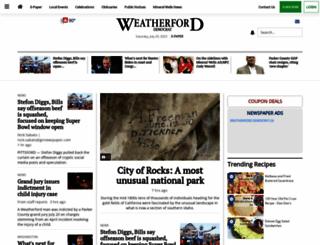 weatherforddemocrat.com screenshot