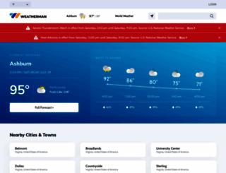 weatherman.com screenshot