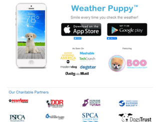 weatherpuppy.com screenshot