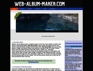 web-album-maker.com screenshot
