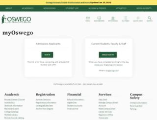 web-banner.oswego.edu screenshot