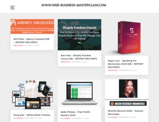 web-business-masterclass.com screenshot