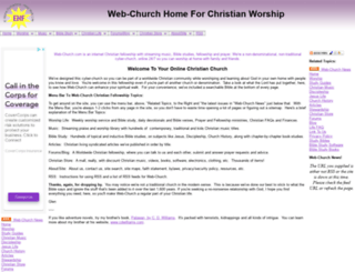 web-church.com screenshot