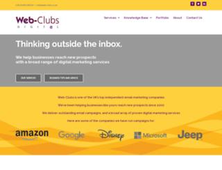 web-clubs.co.uk screenshot