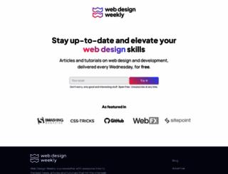 web-design-weekly.com screenshot