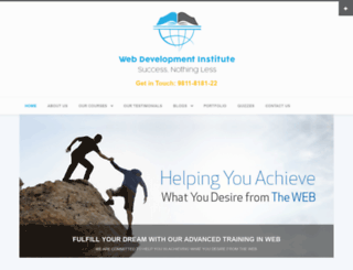 web-development-institute.com screenshot