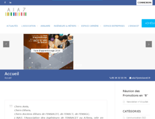 web-etudiants.ensiacet.fr screenshot