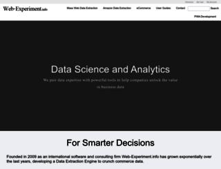web-experiment.info screenshot