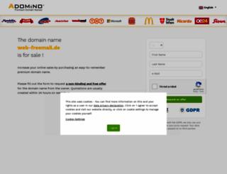 web-freemail.de screenshot