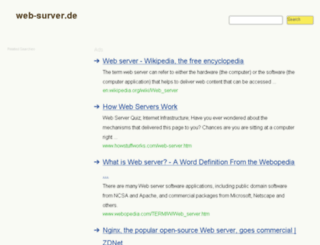 web-surver.de screenshot
