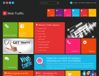 web-traffic.co.za screenshot
