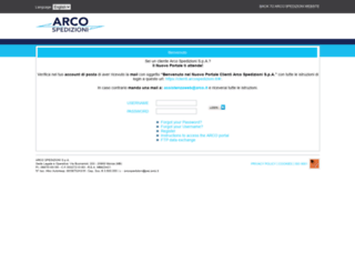 web.arco.it screenshot