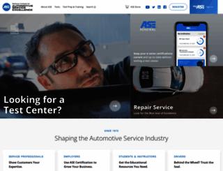 web.ase.com screenshot