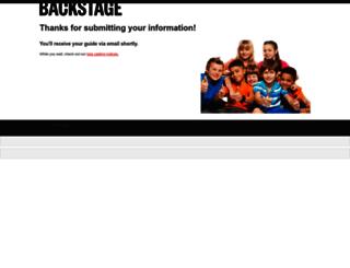 web.backstage.com screenshot