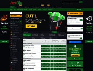 web.bet9ja.com screenshot