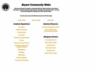 web.bryant.edu screenshot