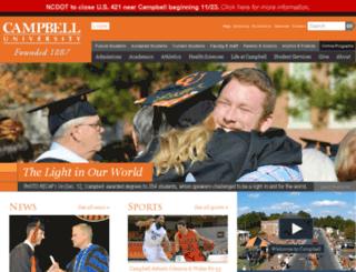 web.campbell.edu screenshot