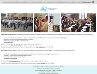 web.cathol.lu screenshot