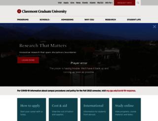 web.cgu.edu screenshot