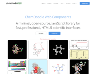 web.chemdoodle.com screenshot