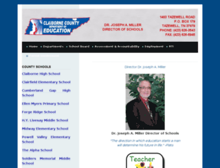 web.claibornecountyschools.com screenshot