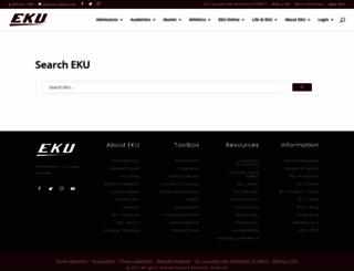 web.eku.edu screenshot