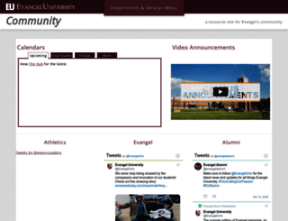 web.evangel.edu screenshot