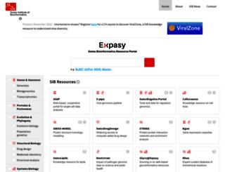 web.expasy.org screenshot