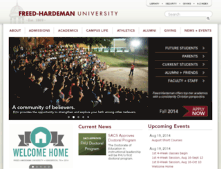 web.fhu.edu screenshot