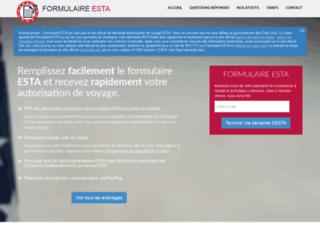 web.formulaire-esta.eu screenshot