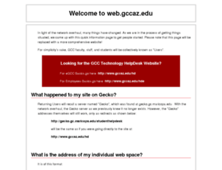 web.gccaz.edu screenshot
