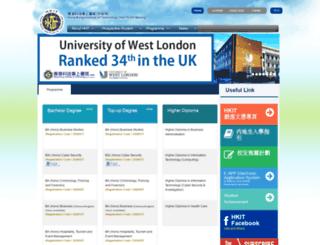 web.hkit.edu.hk screenshot