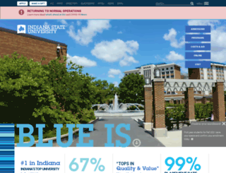 web.indstate.edu screenshot